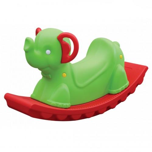 Oxford Κουνιστό  Ελεφαντάκι, Πράσινο-Κόκκινο , KRE-905-G