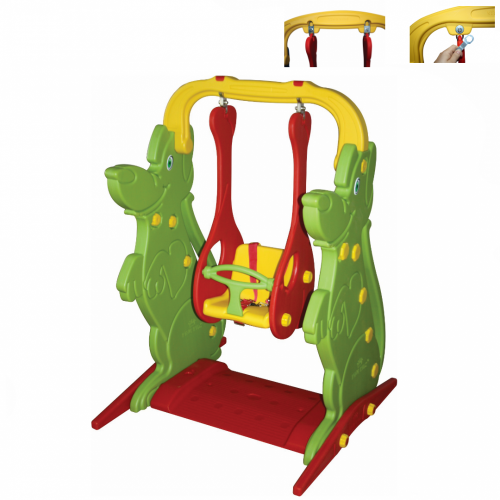 Παιδική Κούνια , Κόκκινο-Πράσινο, KKS-062