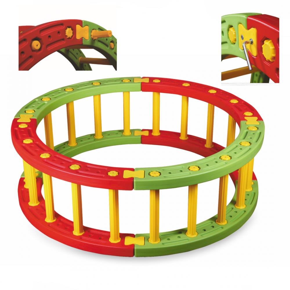 Παιδότοπος- Φράχτης Πλαστικόs Κίτρινο – κόκκινο KRG-030