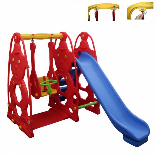 Παιδική Τσουλήθρα Με Κούνια Πλαστική Κόκκινο–Μπλε KST-060-A