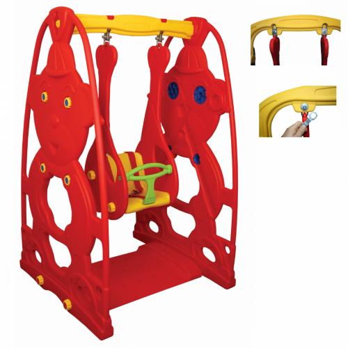 Παιδική Κούνια Πλαστική Κόκκινο-Κίτρινο, KST-062