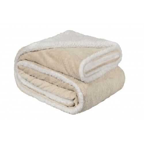 Oxford Κουβέρτα Προβατάκι δύο όψεων, Υπέρδιπλη 220Χ240, ΜΠΕΖ BL-211