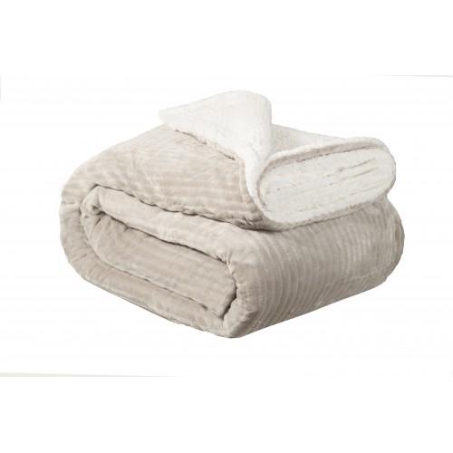 Oxford Κουβέρτα Προβατάκι δύο όψεων, Υπέρδιπλη 220Χ240, ΓΚΡΙ , BL-224