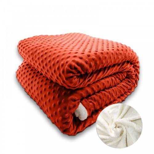 Oxford Κουβέρτα Προβατάκι , Υπέρδιπλη 220Χ240, Κεραμιδί BL-015