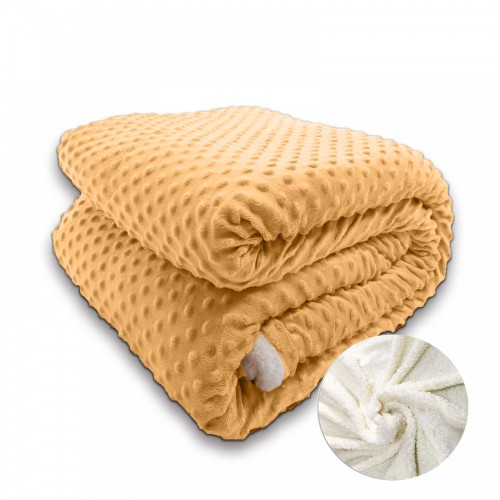 Oxford Κουβέρτα Προβατάκι, Υπέρδιπλη 220Χ240, Χρυσό BL-016