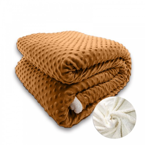 Oxford Κουβέρτα Προβατάκι, Υπέρδιπλη 220Χ240, Κανελλί BL-018