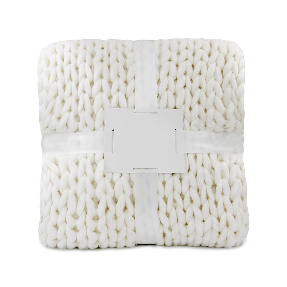 Oxford Πλεκτή Κουβέρτα Διπλή 200Χ240, Λευκό BL-046